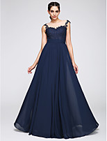TS Couture® Formal Evening Dress A-line Jewel Floor-length Jersey with Appliques