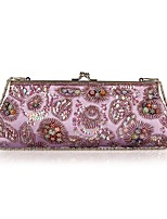 L.west Women Elegant High-grade Embroidery Beaded Evening Bag