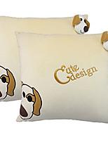 2pc хлопка милый мультфильм домой автомобиль путешествия подушку плюша поясничного коврик или подушку интерьера автомобиля продукты