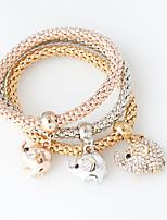 Bracelet Chain Bracelet Alloy Circle Fashion Wedding Jewelry Gift Gold / Rose / Silver,1set