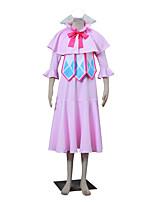 Вдохновлен Фейри Тейл Winry Аниме Косплэй костюмы Косплей Костюмы Однотонный Розовый Без рукавов Накидка / Платье