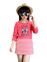 Girl's Casual/Daily Print Tee / Blouse,Cotton / Others Spring / Fall Red / White / Yellow