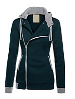 Women's  Casual All Match Hoodies Coat with Zipper,Solid Hooded Long Sleeve