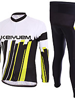 KEIYUEM® Cycling Jersey Unisex Long Sleeve Breathable / Thermal / Warm / Quick Dry / Wearable / Compression / 3D Pad / Comfortable Bike