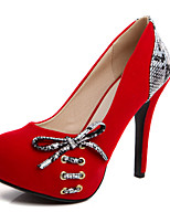 Women's Heels Spring / Summer / Fall Heels / Round Toe Leatherette Outdoor /  Casual Stiletto Heel  / Red