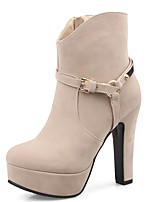 Women's Boots Spring/Fall/Winter Heels/Platform/Bootie/Round Toe Wedding/Party & Evening/Casual Chunky Heel
