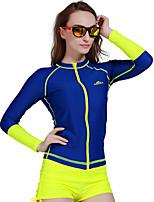 Women Diving Surfing Rashguards Shirt Swim Snorkeling Tops Long Sleeve Swimwear Wetsuit Zipper