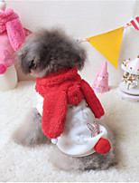 Dog Costume / Hoodie Red / Rose Winter Cartoon Keep Warm, Dog Clothes / Dog Clothing
