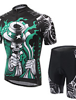 Men's Cycling Clothing Sets New Fashion Necromancer Pattern Bicycle Sports Comfortable Short Cycling Jersey 1 Set