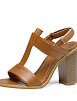 Women's Sandals Summer Sandals / Open Toe PU Casual Chunky Heel Others Black / Brown Others