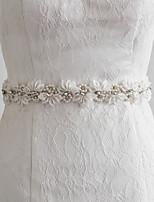 Satijn Huwelijk / Feest/Uitgaan / Dagelijks gebruik Sjerp-Sierstenen / Appliqués / Parels / Bloemen Dames 98½In (250Cm)Sierstenen /