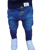 Boy's Casual/Daily Embroidered Pants,Others Winter / Fall Black