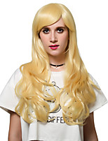 Light yellow long hair style, Europe and the United States fashion wig.