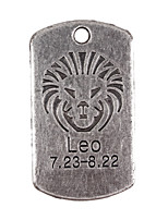 10pcs New Alloy Parts Twelve Constellation Leo Square Accessories