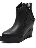 Women's Boots Winter Heels Leatherette Outdoor Flat Heel Others Black Others