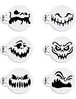 6pcs Halloween Stencils Template for Cookie Cupcake Stencil Set Cake Decorating Tool ST-916