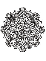 Florals Wall Stickers Mandala Wall Stickers Religious Wall Stickers,Vinyl Murals Removable Round Decal