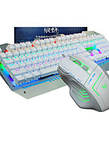 AULA  F2009 Mechanical Wired USB  Game Keyboard & Mouse With LED