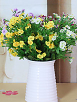 1PC  Household Artificial Flowers Sitting Room Adornment Flowers  Polyester Jasmine  Artificial   Flowers