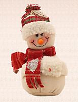 colgante del muñeco de nieve de color beige pendiente del árbol de navidad 1pc de decoración del hogar artículos para fiestas al aire