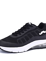 Women's Sneakers Spring / Fall Comfort / Round Toe Tulle Athletic Flat Heel Lace-up Black / Red / White Sneaker