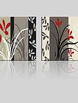 lienzo conjunto Paisaje / Floral/Botánico Modern,Dos Paneles Lienzos Cuadrado lámina Decoración de pared For Decoración hogareña