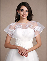 Women's Wrap Shrugs Sleeveless Lace White Wedding / Party/Evening Scoop 30cm Lace / Pattern Pullover