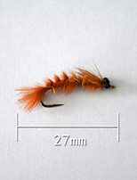 1 pcs Hard Bait Orange 5 g/1/6 oz. Ounce,27 mm/1
