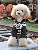 Dog Hoodie Green / Coffee Winter / Spring/Fall Color Block / Floral / Botanical Casual/Daily Dog Clothes / Dog Clothing