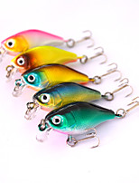 5pcs Hard Bait Green / Orange / Pink / yellow shad / Blue 4 g/1/8 oz. Ounce,47 mm/1-3/4