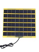5w 12v поликристаллических панели солнечных батарей с постоянного тока заряда кабеля для 12v батареи (swb5012d)