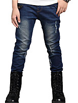 Boy's Casual/Daily Patchwork Pants / Jeans,Cotton Spring / Fall Blue