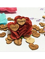 100PCS Pretty Cute Wooden Table Confetti Baby Shower Birthday Party  Decoration