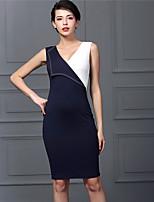 Baoyan® Women's V Neck Sleeveless Above Knee Dress-160285