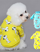 Dog Hoodie Blue / Yellow Winter / Spring/Fall Animal Casual/Daily Dog Clothes / Dog Clothing-Other