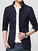 2016 new wool jacket men's windbreaker England Korean cultivating in the long coat color youth tide
