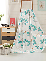 Leaf  Printed 100% Mulberry Silk Filling Cotton Summer Quilt W150 x L200cm