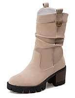 Women's Boots Fall / Winter Fashion Boots / Combat Boots / Round Toe Fleece Office & Career / Dress / Casual Platform