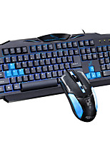 Waterproof Wired Game USB Keyboard & Mouse Suit With LED