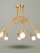 5 Chandelier ,  Country Brass Feature for Mini Style Metal Living Room / Bedroom / Dining Room