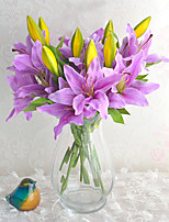 Hi-Q 1Pc Decorative Flowers Real Lilies For Wedding Home Table Decoration Artificial Flowers
