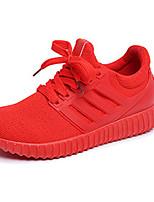 Черный / Красный-Женский-Для прогулок / Для занятий спортом-Тюль-На плоской подошве-Удобная обувь-Кеды