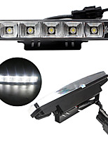 2pcs 2x5W 5LED White Color Light 6000K 100% waterproof High Quality Daytime Running Light