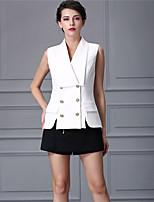 Baoyan® Dames V-hals Mouwloos Mini Jumpsuit-160335