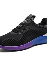 Черный / Синий / Серый-Мужской-Для прогулок / На каждый день / Для занятий спортом-Тюль-На плоской подошве-Удобная обувь / С круглым
