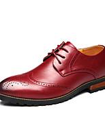 Oxford Modeli-Ofis ve Kariyer / Günlük / Parti ve Gece-Rahat / Sivri Burun-Tüylü-Alçak Topuk-Siyah / Sarı / Kırmızı-Erkek