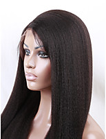 EVAWIGS 18-26 Inch Brazilian Human Virgin  Hair Wig Coarse Afro Kinky Straight Full Lace Wig For Fashion Women