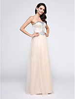 TS Couture® Formal Evening Dress Sheath / Column Sweetheart Floor-length Tulle with Crystal Detailing / Sequins