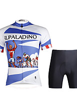 PALADIN® Cycling Jersey with Shorts Men's Short SleeveBreathable / Quick Dry / Ultraviolet Resistant / Compression / Lightweight