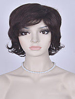 Fashion Brown Short Wig European and American Curly Wigs Women Synthetic Wigs